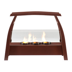 SEI - Kanto Portable Indoor/Outdoor Gel Fuel Fireplace - It's hard enough to find time to relax - you shouldn't have to find space too! This portable fireplace is the perfect choice for any home in search of a cozy, portable fireplace for indoor and outdoor use. This portable gel fireplace offers the warmth and joys of a fireplace without wasting valuable space when not in use. FireGlo Gel Fuel snaps and crackles like real wood for the perfect fireplace experience; replace the gel fuel with decorative pillar candles for year round enjoyment. Convenience and ease of assembly are just two of the reasons why this fireplace is perfect for your home. The simple, Asian-inspired style of this portable fireplace works well in transitional and contemporary homes. It's great for the living room and bedroom, and even adds a warm, romantic touch to the dining room or home office. Move it to your patio to enjoy the warmth and beauty outdoors too!