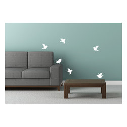 Cherry Walls - Six Singing Birdies Wall Decal - Sing a song of sixpence … and create a magical place for your child or yourself. You won't need four-and-twenty birds though — just the six that come with the set.  A super simple way to add character to a room.