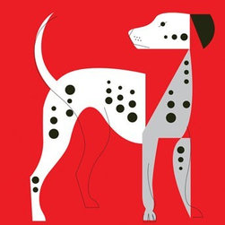 "Mid-Century Modern Art Illustrations by Eleanor Grosch - Eleanor Grosch's ""Mod Dog Dalmatian"" vailable in sizes 10x14, 18x24, and 30x40. See more of Eleanor's Dog Wall Art on our Website"