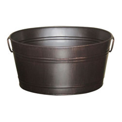 Oval Beverage Bin, Oil Rubbed Bronze - If you're not planning to host any big parties, go ahead and repurpose your beverage bin!