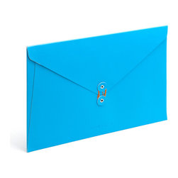 PU Envelope Folio, Pool Blue - Perfect for carrying your papers from here to there in style.