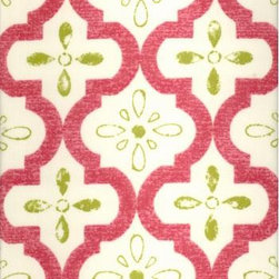 Conservatory - This fabric reminds me of Spanish tile and I like its Old World charm done in modern colors. Pink and green will always be a classic combination!