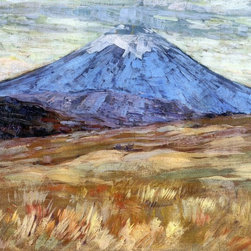 "Arthur Wesley Dow Mount Hood - 16"" x 24"" Premium Archival Print - 16"" x 24"" Arthur Wesley Dow Mount Hood premium archival print reproduced to meet museum quality standards. Our museum quality archival prints are produced using high-precision print technology for a more accurate reproduction printed on high quality, heavyweight matte presentation paper with fade-resistant, archival inks. Our progressive business model allows us to offer works of art to you at the best wholesale pricing, significantly less than art gallery prices, affordable to all. This line of artwork is produced with extra white border space (if you choose to have it framed, for your framer to work with to frame properly or utilize a larger mat and/or frame).  We present a comprehensive collection of exceptional art reproductions byArthur Wesley Dow."