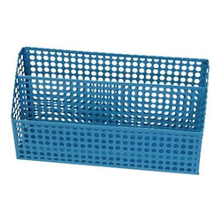 Design Ideas Blue Edison Letter Sorter - The Edison Collection from Design Ideas makes a bold statement to desk organizers. Made from sturdy epoxy-coated steel, the circular pattern in vibrant colors will make your office happy.