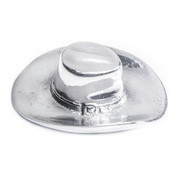 Arthur Court Designs - Cowboy Hat Bottle Opener - Wash by hand with mild dish soap and dry immediately. Product not intended as cookware. Can withstand 350 F. Refrigerator and freezer safe.