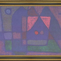 """Art MegaMart - Paul Klee Small Room in Venice - 16"""" x 24"""" Framed Premium Canvas Print - 16"""" x 24"""" Paul Klee Small Room in Venice framed premium canvas print reproduced to meet museum quality standards. Our Museum quality canvas prints are produced using high-precision print technology for a more accurate reproduction printed on high quality canvas with fade-resistant, archival inks. Our progressive business model allows us to offer works of art to you at the best wholesale pricing, significantly less than art gallery prices, affordable to all. This artwork is hand stretched onto wooden stretcher bars, then mounted into our 3 3/4"""" wide gold finish frame with black panel by one of our expert framers. Our framed canvas print comes with hardware, ready to hang on your wall.  We present a comprehensive collection of exceptional canvas art reproductions by Paul Klee."""