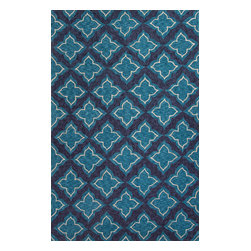 Jaipur Rugs - Moroccan Pattern Polyester Blue Indoor-Outdoor Area Rug ( 2x3 ) - These Catalina rugs will add a pop to any outdoor space with its rich inspiration from Moroccan trellis and tile patterns.