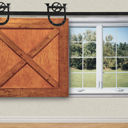 Shop pottery barn window treatments products on houzz for Barn door window covering