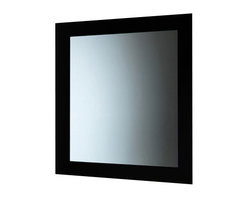 Gedy - Black Vertical or Horizontal Mirror With Frame - Made in mirror and finished with black.