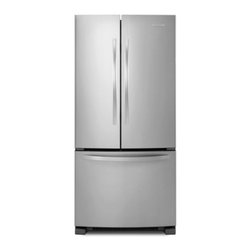 "KitchenAid - Architect Series II KBFS22EWMS 33"" 21.9 cu. ft. Capacity Standard-Depth French D - Kitchenaid39s architect series 219 cu ft French Door Refrigerator uses less energy and will help you save money With two pull out freezer baskets this refrigerator provides easy access viewing and cleaning of freezer and more"