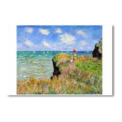 """PosterEnvy - Cliff Walk at Pourville 1882 - Claude Monet - Art Print POSTER - 12"""" x 18"""" Cliff Walk at Pourville 1882 - Claude Monet - Art Print POSTER on heavy duty, durable 80lb Satin paper"""