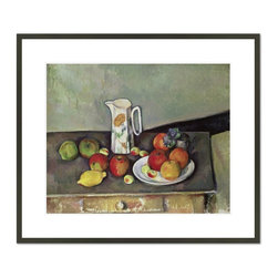 1000Museums - Still life with milk jug and fruit, c.1886-90 - Still life with milk jug and fruit, c.1886-90 by Paul Cézanne, from the National Gallery, Oslo collection.