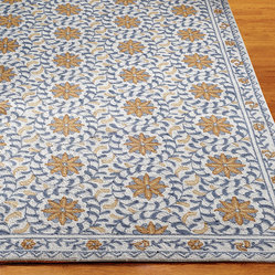 Windflower Hand-hooked Wool Area Rug - 1