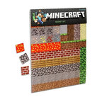 """KOOLEKOO - Minecraft Sheet Magnets - In each pack of Minecraft Refrigerator Magnets, you will receive two magnetic sheets packed with 80 colorful, classic blocks. Use the magnets to hold up printouts of treasured screenshots of your vacation on that island covered with snow. Share your schematics for your next fortress with the whole family. Or play a rousing game of """"name that data value!"""" Official, licensed Minecraft product! Two magnetic sheets with 80 1-inch square blocks each!Each sheet includes a number of items from coal, to trees, to leaves and dirt!"""