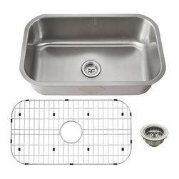 Schon - Schon Luxury 16 Gauge Single Bowl Kitchen Sink, Stainless Steel (SCSB301816) - Schon SCSB301816 Luxury 16 Gauge Single Bowl Kitchen Sink, Stainless Steel