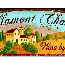 Red Horse Signs - Bellamont Chateau Vintage Vineyard and Wine Sign - Vintage  Sign  -  Bllamont  Chateau  Nostalgic    Vineyard  Advertising  SignBellamont  Chateau  is  a  customizable  vintage  wood  sign  ready  for  hanging.  Replace  Bellamont  Chateau  with  the  name  of  your  special  villa      summer  home  or  lodge  and  have  a  classic  one-of-a-kind  sign  that's  perfect  for  your  tuscan  decor.    Printed  directly  to  distressed  wood  for  an  aged  appearance    this  sign  measures  11  x  32.