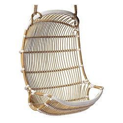 Double Hanging Rattan Egg Chair - This is such an interesting double swing. It's perfect for lazy afternoons.