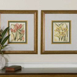 "41227 French Tulip & Gladiola, Set/2 by uttermost - Get 10% discount on your first order. Coupon code: ""houzz"". Order today."