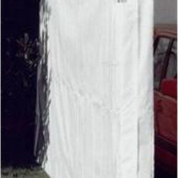 """Powell & Powell - King Canopy White Side Wall Kit with Flaps-10' x 20' - SWK1020WF-2 - Shop for Sheds and Storage from Hayneedle.com! White Side Wall Kit with Flaps for select 10' x 20' canopies.Use only with product codes that begin with """"PP.""""Give your valuables extra protection!"""