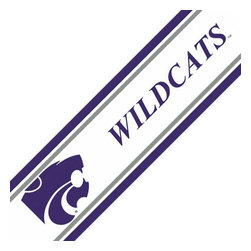 Trademarx Wall Decor - NCAA Kansas State Wildcats Accent Self-Stick Wall Border - FEATURES: