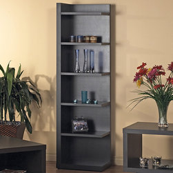 Monarch - Hollow Core Cappuccino Bookcase - Display your books or collectibles with this beautiful open bookshelf. Featuring six open shelves with a rich cappuccino finish, this elegant shelf offers an unique, spacious style that will suit rooms with contemporary or modern decor.