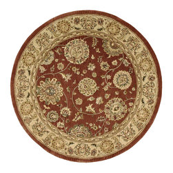 Nourison - Nourison 2000 2258 4' x 4' Rust Area Rug 85956 - Delicate blossoms spread their tendrils across a rust-red ground in this color-rich design. A border of patinated ivory completes the refined, antiqued effect. An elegant expression of Persian traditions for the modern home.