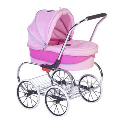 "Valco Baby - Princess Doll Stroller in Pink - Valco Baby ""Just Like Mom"" series are the perfect play accessory for your children three years and older. We design and engineer our dolls prams and strollers with the same care, precision and thought as we do our Stroller range. These easy to use Doll Strollers incorporate luxury Valco Baby style and are tough enough to withstand how children play today and beyond. Features: -Doll stroller. -Color: Pink. -For three years and older."