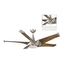"""Savoy House - Savoy House Ariel 58"""" Ceiling Fan in Satin Nickel - Savoy House Ariel 58"""" Model SV-58-818-5CN-SN in Satin Nickel with Solid Wood Chestnut Finished Blades."""