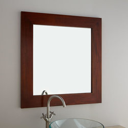 """30"""" Iwan Mahogany Vanity Mirror - With the striking richness of mahogany, the 30"""" Iwan Vanity Mirror adds simple sophistication to a bathroom or any other room that needs beautiful dimension."""