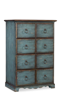 Hooker Furniture - Hooker Furniture Tall Drawer Chest 500-50-903 - Plywood drawer bottoms are attached to plywood drawer sides for strength and durability. Full extension wood-on-wood or metal glide drawer systems operate smoothly