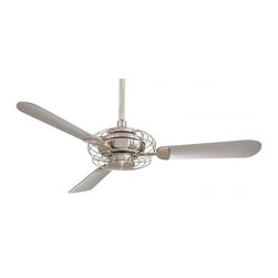 Minka-Aire - Minka-Aire Acero 1-Light Brushed Steel/Brushed Nickel Ceiling Fan - F601-BS/BN - This 1-Light Ceiling Fan is part of the Acero Collection and has a Brushed Steel/Brushed Nickel Finish.