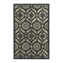 "Safavieh - Transitional Chelsea 7'9""x9'9"" Rectangle Black - Ivory Area Rug - The Chelsea area rug Collection offers an affordable assortment of Transitional stylings. Chelsea features a blend of natural Black - Ivory color. Hand Hooked of Wool the Chelsea Collection is an intriguing compliment to any decor."