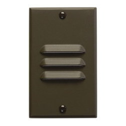 """Kichler - Kichler 12656AZ Functional 4.5"""" x 2.75"""" Vertical Louver Step Light - Step - Kichler 12656 4.5"""" x 2.75"""" Vertical Louver Step Light from the Step and Hall Light CollectionWorried about tripping over a dark stair? Install a step light, so you'll know right where that step is.Features:"""