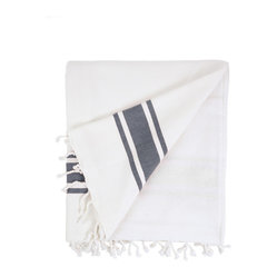 Ocean Terry Beach Towel, Black