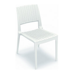 Siesta - Verona Resin Wickerlook Dining Chair (set Of 2) - *Made from commercial grade resin with gas injection molded legs, with non-skid rubber caps. Wickerlook resin weave design. Not Woven, will not unravel.