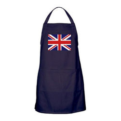 Apron (Dark) British English Flag HD - Bring some Olympic style into the kitchen or to your barbecue by tossing this apron on.