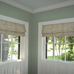 Roman shades - Roman shades furnished and installed by Kite's Interiors.
