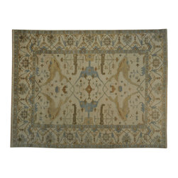 1800GetARug - 100 Percent Wool Hand Knotted Washed Out Oushak Oriental Rug Sh19040 - 100 Percent Wool Hand Knotted Washed Out Oushak Oriental Rug Sh19040