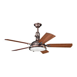 "Kichler Hatteras Bay 300018OBB Indoor Oil Rubbed Bronze 56"" Ceiling Fan - ORDER THIS CEILING FAN ON HOUZZ FROM LEE LIGHTING TODAY."