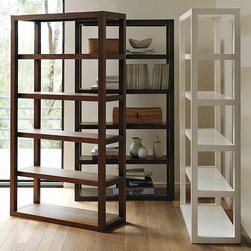 Parson's Tower - The perfectly pleasing proportions of the Parsons Tower bookcases will never go out of style. These shelves will show off your books, bowls, vases, and sculptures with style.