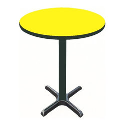 Correll Inc - Round Cafe Breakroom Top in Yellow (42 in./Ye - Finish: 42 in./YellowColumn and base not included. Pictured in Yellow. 24 in.. 30 in.. 36 in.. 42 in.. 48 in.. 60 in.
