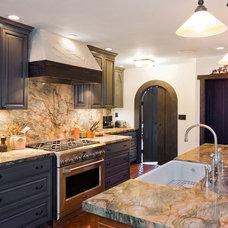 Mediterranean Kitchen by Precision Cabinets