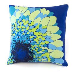 koi Design - Camden Silk Euro Pillow - This 100% silk Euro Pillow will add stylish flair to any room with its contemporary floral design.