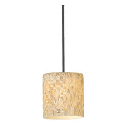 Naturals 1-Light Pendant, White Stem