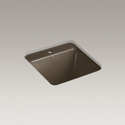 KOHLER - KOHLER Park Falls(TM) under-mount utility sink with single faucet hole - The compact size of the Park Falls utility sink offers functionality for smaller spaces. The deep basin gives you ample room for a variety of cleaning tasks. Crafted from enameled cast iron, this sink resists scratching, burning, and staining for years of beauty and reliable performance.