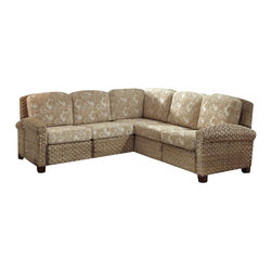 Home Styles - Home Styles Cabana Banana II Sectional in Honey Finish - Home Styles - Sofas - 540362 - Bring back the island essence with the Cabana Banana II �L� Sofa from Home Styles. This eco-friendly piece features frames that are made of 100 percent sustainable natural materials. Construction is from hand braided, four over two woven pattern, banana leaves; mahogany solids, and plywood in a honey finish
