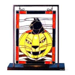 Meyda - 9.5 Inch W X 10.5 Inch H Fright Fest Mini Window - Color Theme: Grey Orange Bl Ha Beige