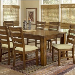 "Hillsdale - Hemstead 7 Piece Dining Set - The Hemstead Dining Set by Hillsdale Furniture features solid wood construction and a rich oak finish. The set is perfect for a home with traditional farm house decor. The dining chairs feature a slat and impressive square legs that create a wonderful rustic Italian country charm. Features: -Dining chairs and table ship separately. -Six dining chairs included. -Hemstead collection. -Rich oak finish. -Fits in a traditional country decor. -Dining chiars feature impressive square legs and slat back. Dimensions: -Chair dimensions: 39.5"" H x 19"" W x 23"" D. -Dining table dimensions without Leaf: 30"" H x 60"" W x 42"" D. -Dining table dimensions with Leaf: 30"" H x 78"" W x 42"" D. -Sideboard dimensions: 36"" H x 54"" W x 18"" D."