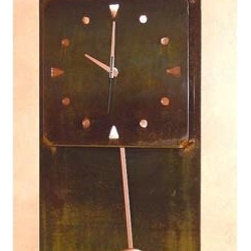 IronCraft - Casita Pendulum Clock - -Handmade by skilled American craftspeople  -Rust finish  -Slight variations in color and dimensions will occur due to the handmade nature of the product  -During the finishing process each piece of steel develops its own unique pattern of light and dark tones and no two pieces are the same  -Lacquer coated to preserve the beautiful patina  -Clock runs on 1 AA battery, not included    -Made in USA IronCraft - 9891RU
