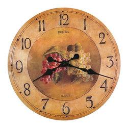 BULOVA - Bulova Whittingham Wall Clock With Fruit Model C3260 - This decorative clock features: